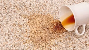 Как удалить пятно от кофе с ковра