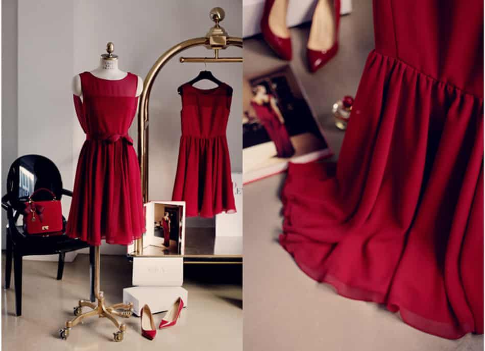 How to stroke a chiffon dress