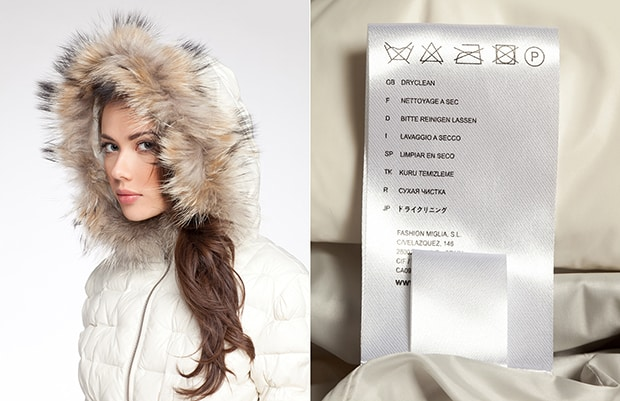 How to wash a fur collar down jacket