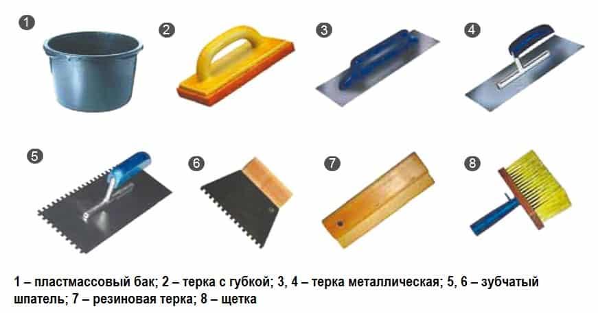 Инструмент для затирки швов