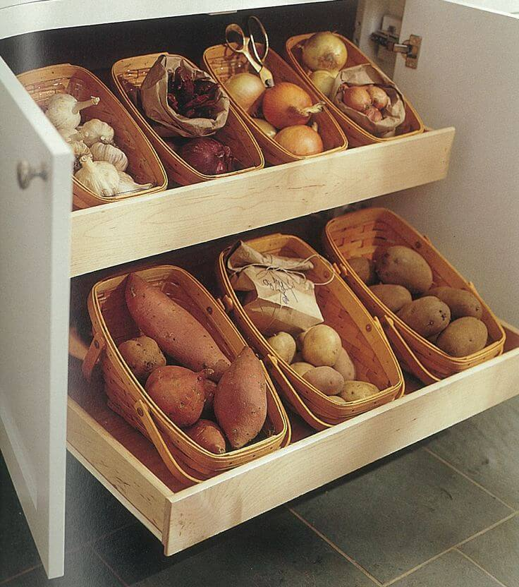 How best to store potatoes in the apartment