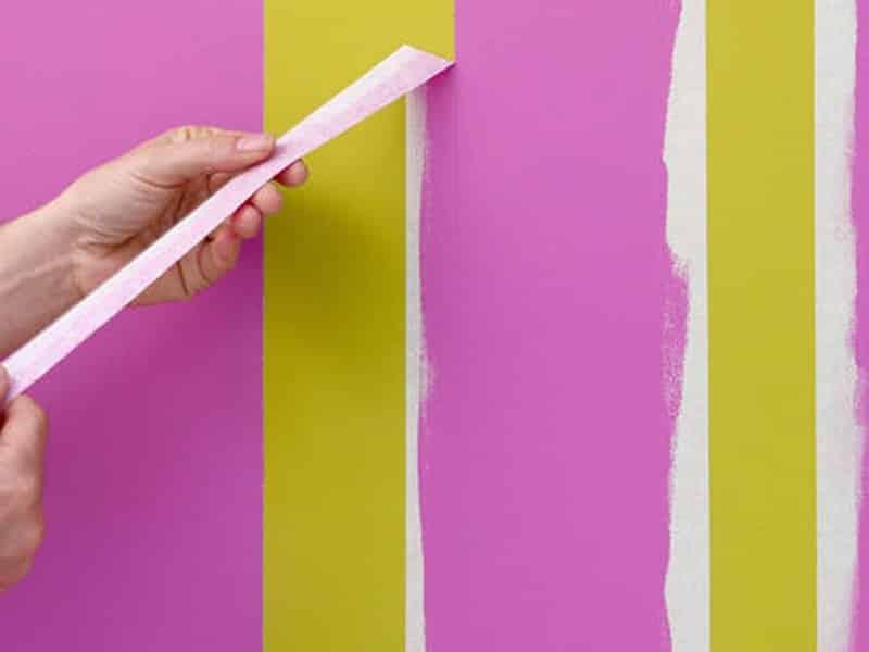 Покраска стен в разные цвета
