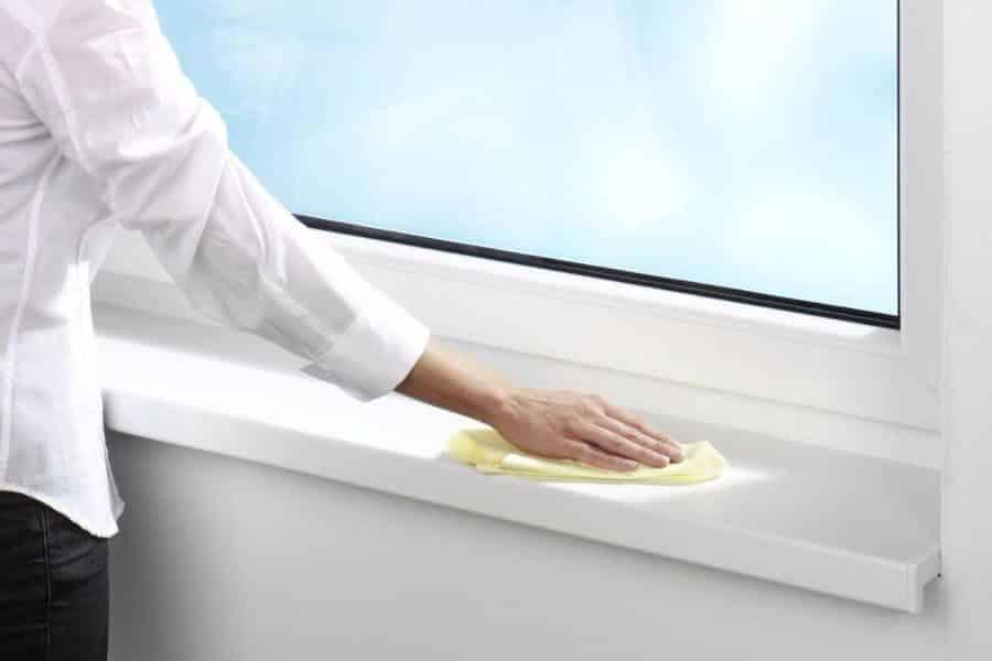 Как очистить пластиковый подоконник от пятен