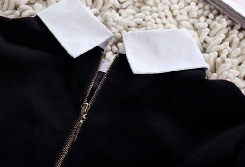 Как отстирать платье с пришитым воротничком