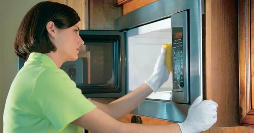 Как вымыть микроволновку внутри от жира