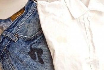 Как отстирать жирное пятно с одежды или ковра