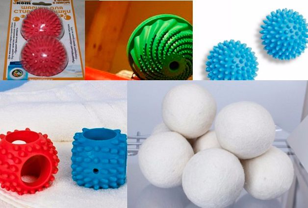 Laundry balls in the washing machine