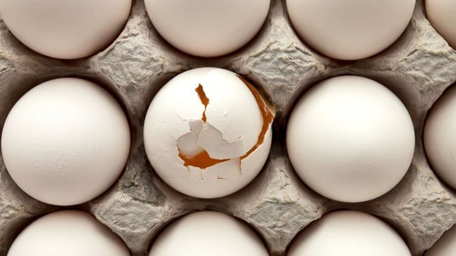 How many eggs are stored in the fridge raw