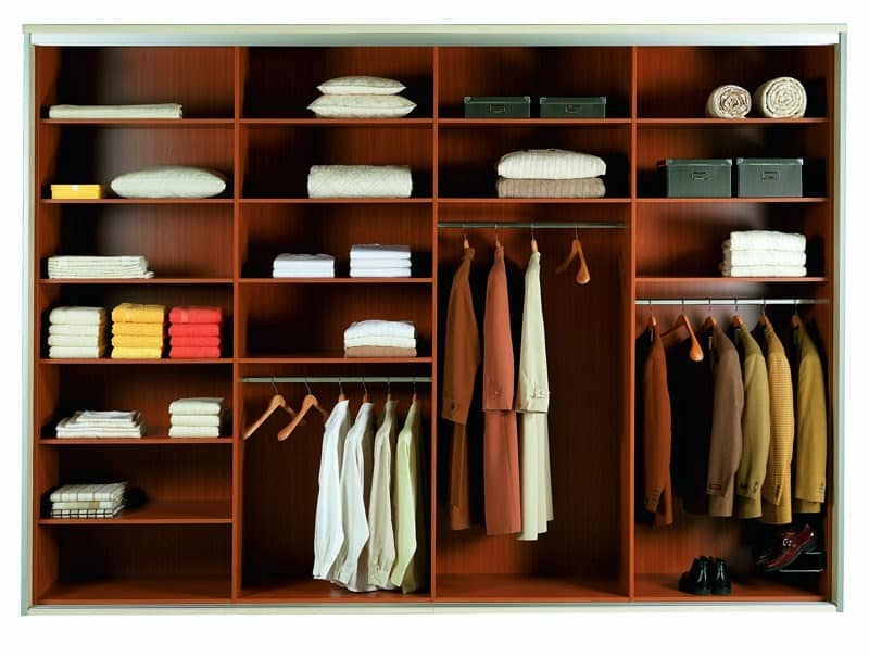The organization of space in cabinets and shelves