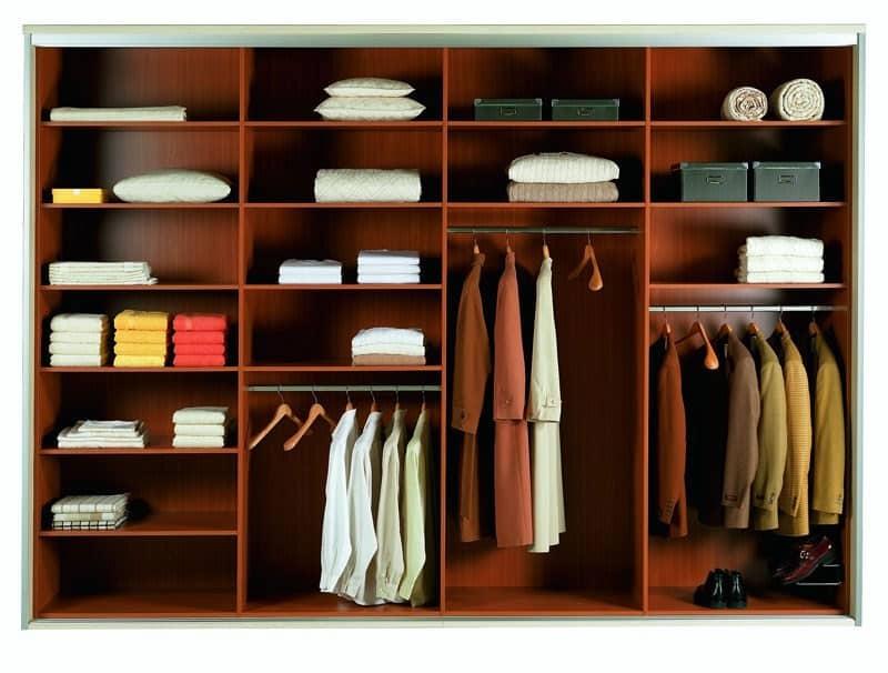 Организация пространства в шкафах и на полках