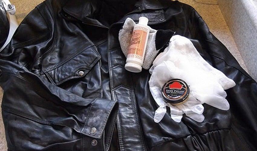 Восстановление цвета кожаной куртки