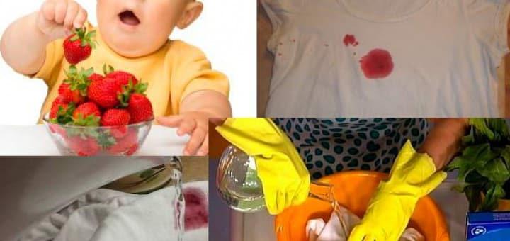 Чем отстирать ягоды с детской одежды